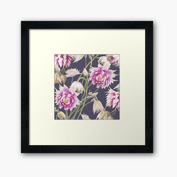 Nora Barlow Aquilegia Flowers Framed Art Print