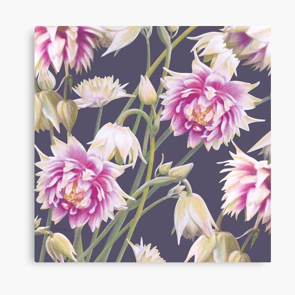 Nora Barlow Aquilegia Flowers Canvas Print