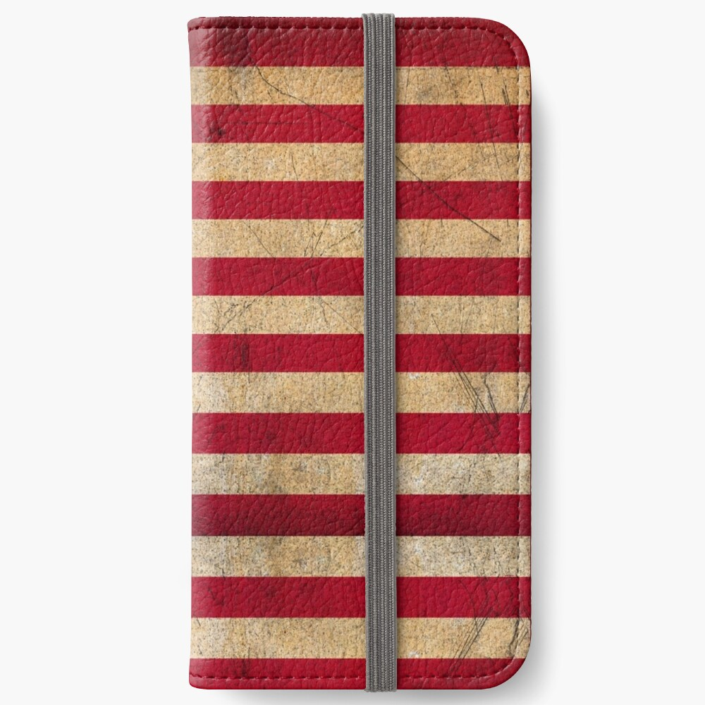 Vintage American Flag iPhone Wallet