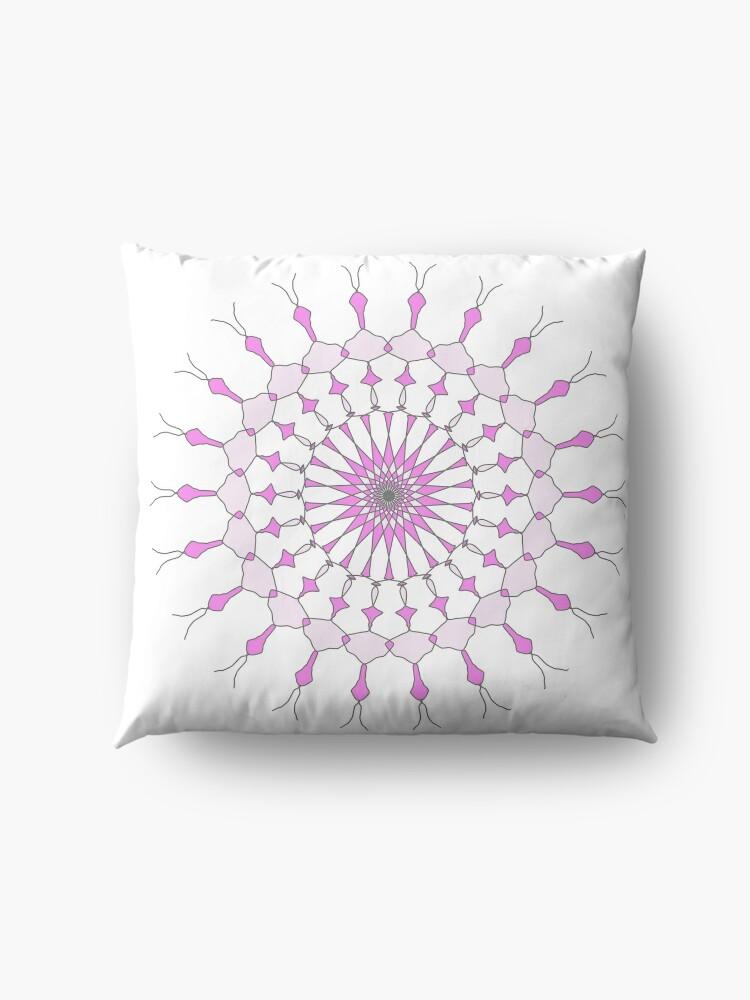Alternate view of Geometric Shape Pattern Multi Colored Purple  Floor Pillow