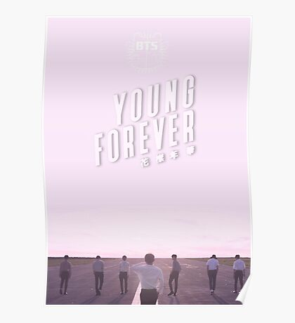 BTS/Bangtan Sonyeondan - Young Forever (Pink) Poster
