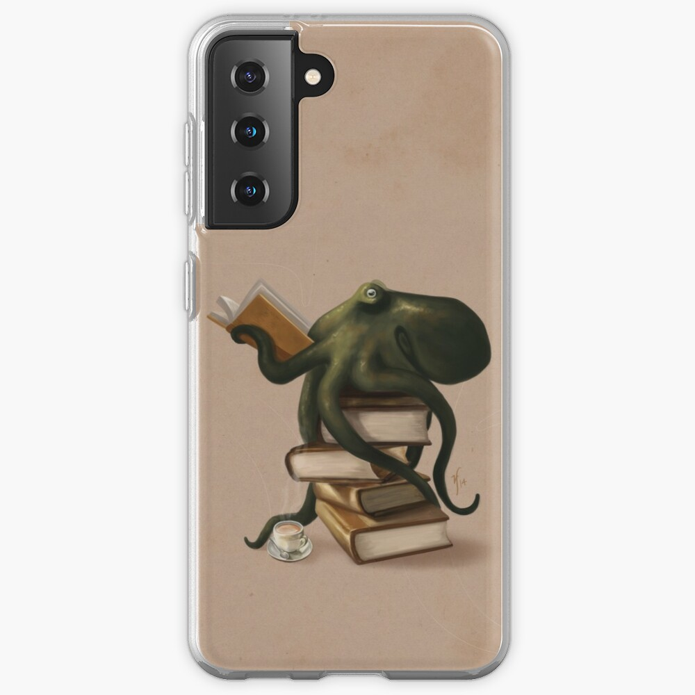 Well-Read Octopus Case & Skin for Samsung Galaxy