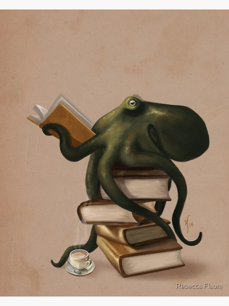 Well-Read Octopus by rebeccaflaum
