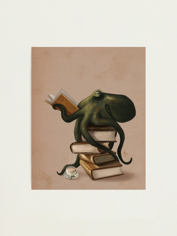 Alternate view of Well-Read Octopus Photographic Print