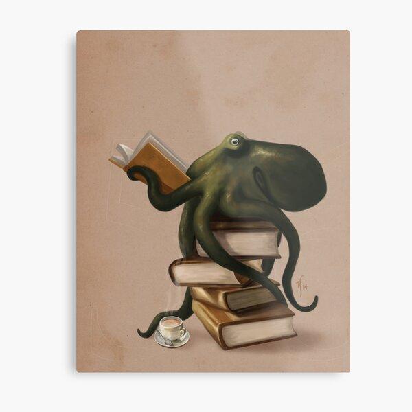 Gut gelesen Octopus Metallbild