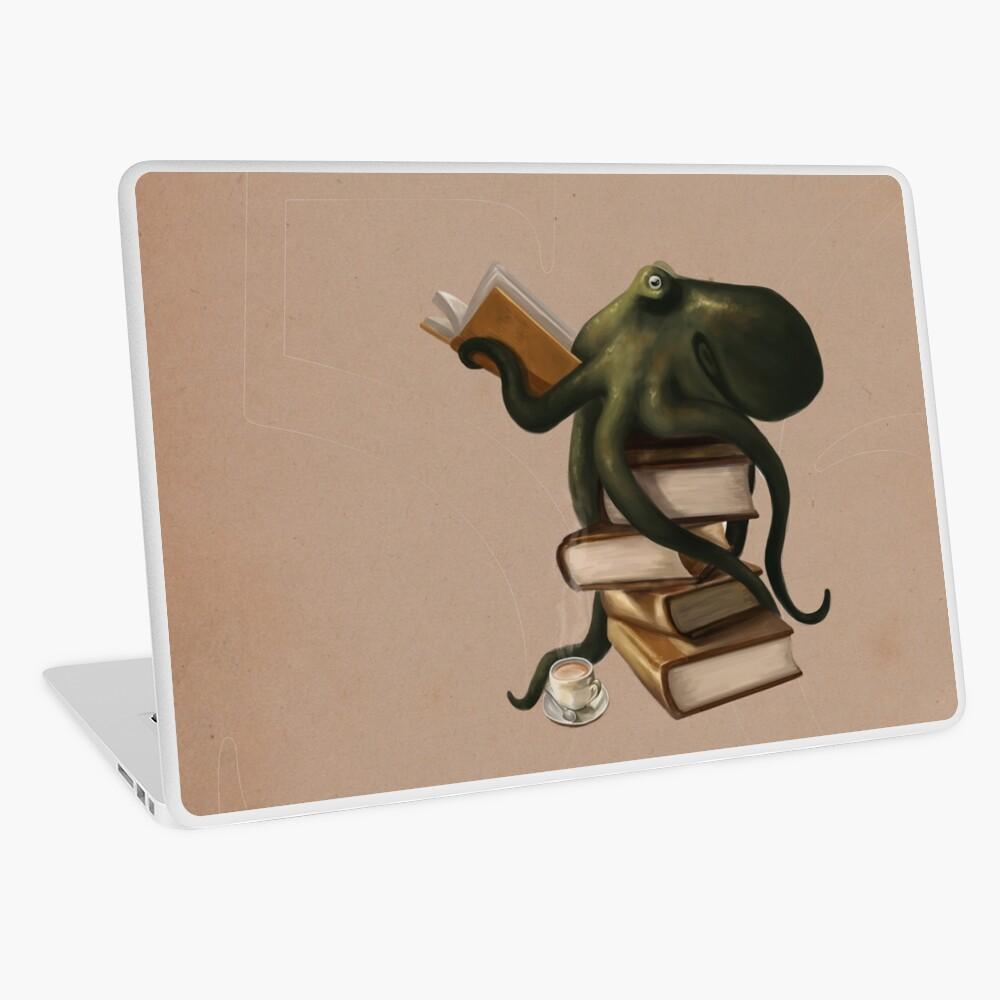Well-Read Octopus Laptop Skin