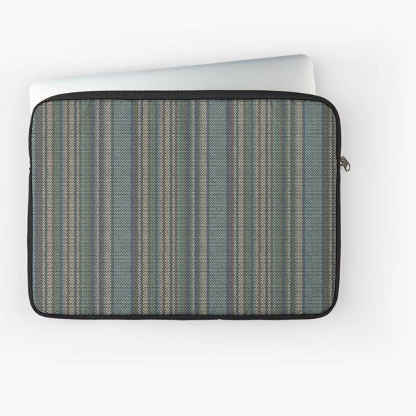 Brown Turquoise Knitting Pattern Laptop Sleeve