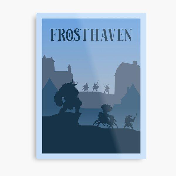 Frosthaven Board Game - Style d'affiche de voyage minimaliste - Art de jeu Impression métallique