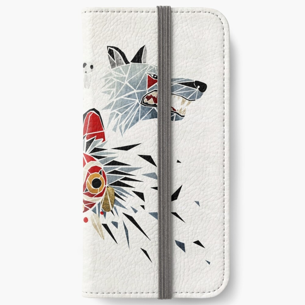 Mononoke-Prinzessin iPhone Flip-Case