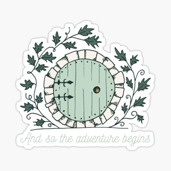 Baggins Door with Twigs Shirts   New design 2021 Sticker