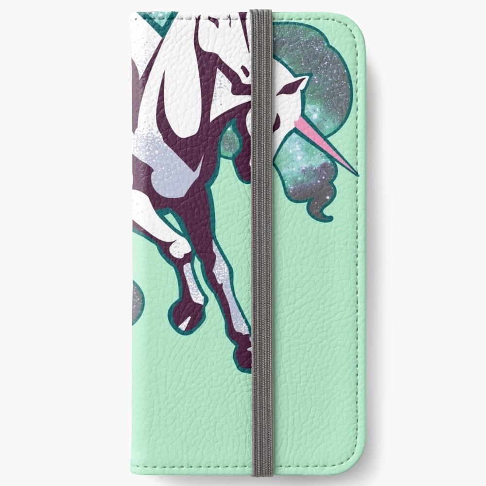 3 headed unicorn iPhone Wallet