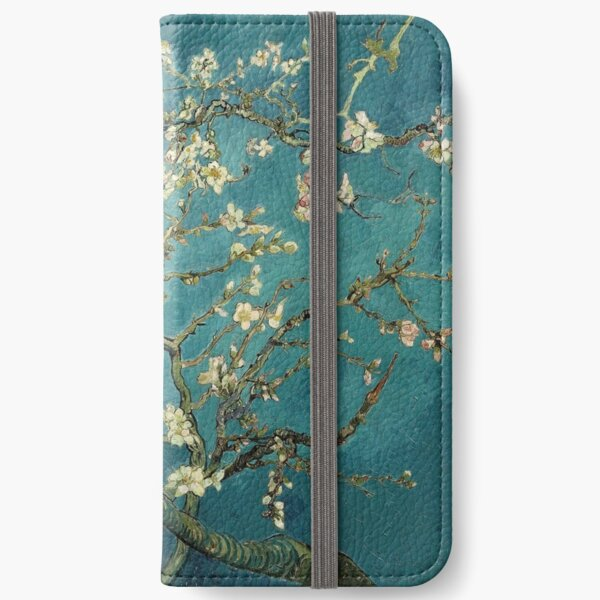 Blossoming Almond Tree, famous post  impressionism fine art oil painting by Vincent van Gogh.  iPhone Wallet
