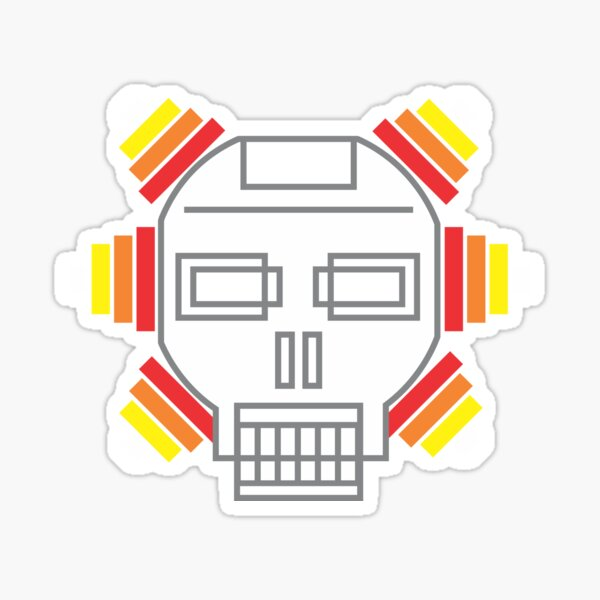 Electro-skull (or ElectRobot) by Faye Klein Sticker