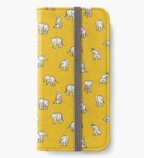 Indian Baby Elephants Yellow iPhone Wallet/Case/Skin