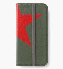Vintage Look Russian Red Star iPhone Flip-Case/Hülle/Skin