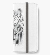 Snow and Ghost Amongst Crows iPhone Wallet/Case/Skin