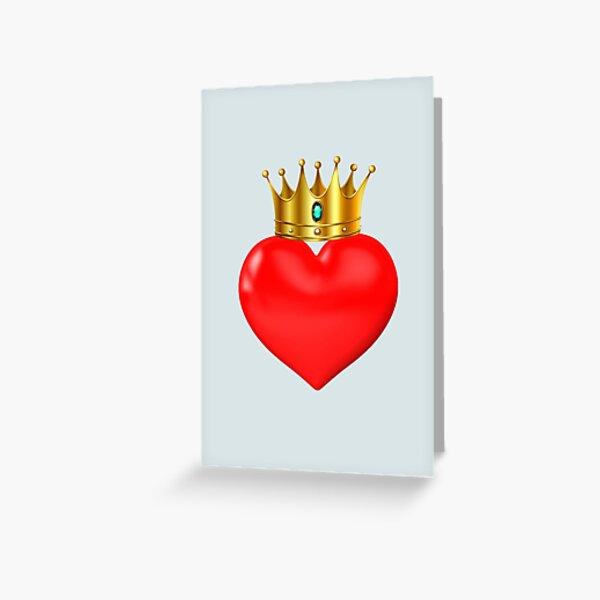 Crown heart Greeting Card