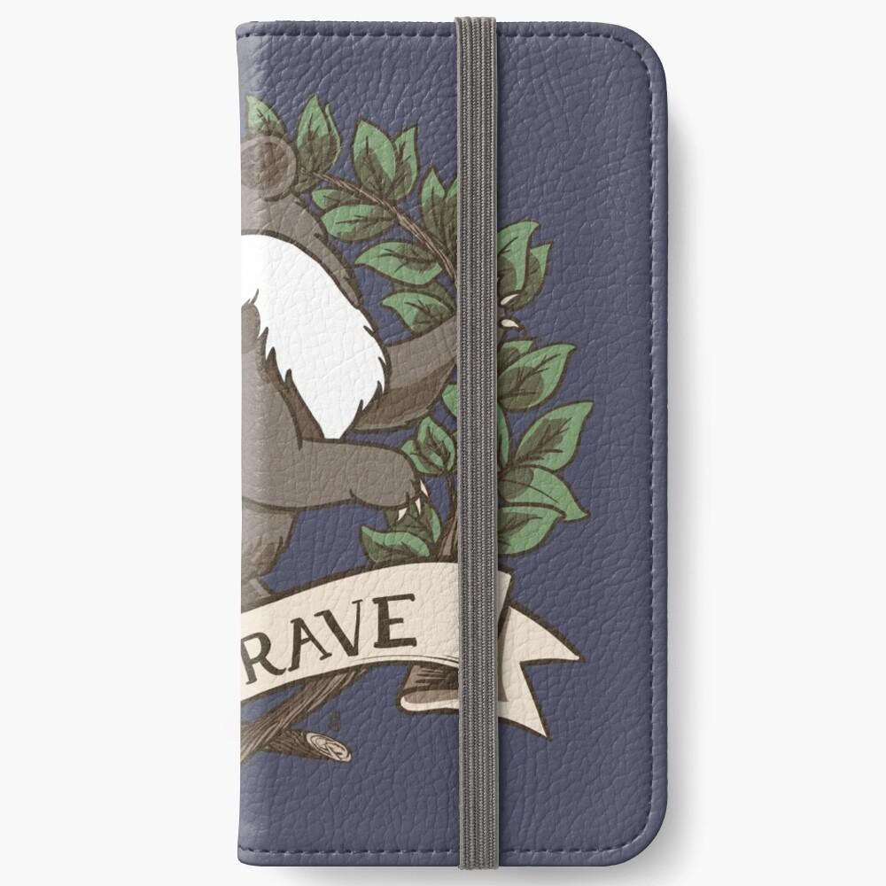 Be Brave Badger Crest iPhone Wallet