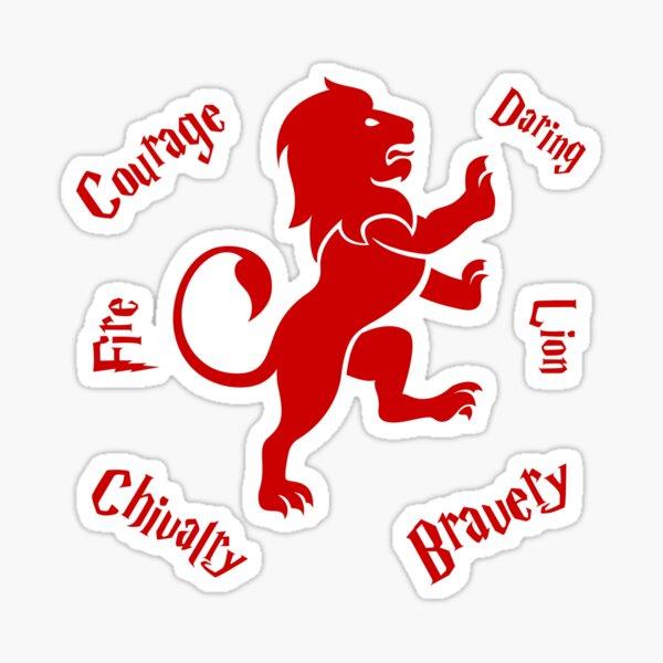 Lions values Sticker