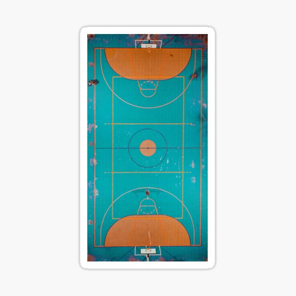 Basketball Court Outdoor Sticker