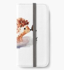 Hedgehog and Butterfly Kisses iPhone Wallet/Case/Skin