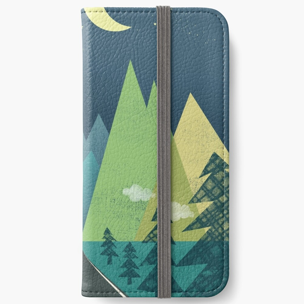 the Long Road at Night iPhone Wallet