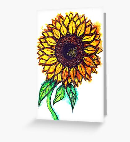 Sunflower Sizzle Greeting Card