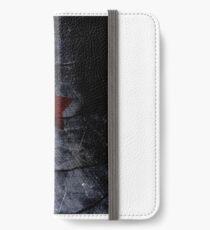 red star on steel iPhone Wallet/Case/Skin