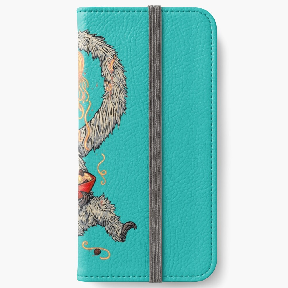 A Sloth Eating Spaghetti iPhone Wallet