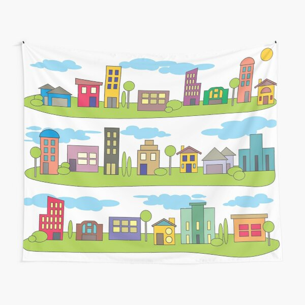 My Little Town Tapestry