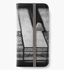 These Worn Tunes in Black and White iPhone Wallet