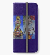 Muppets Haunted Mansion Stretching Room Portraits iPhone Wallet/Case/Skin
