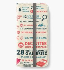 40 Ways to Stay Creative Poster iPhone Wallet/Case/Skin