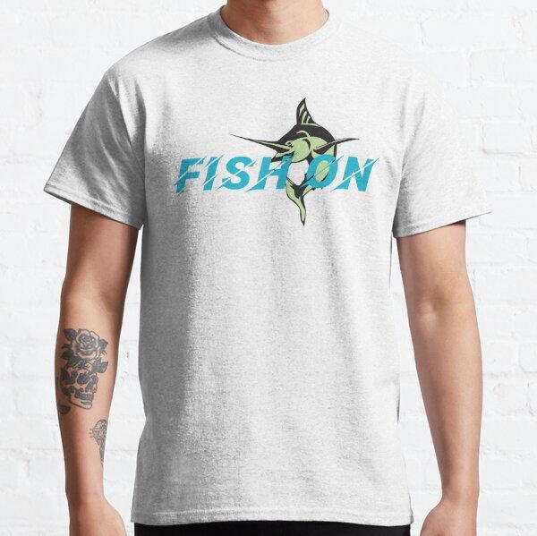 Fish On Turqouise Design Classic T-Shirt