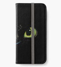 Toothless fiery eyes iPhone Wallet/Case/Skin
