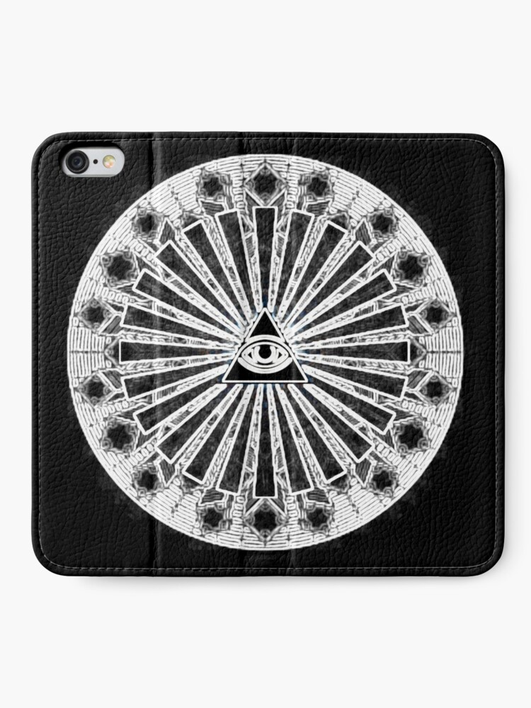 Alternative Ansicht von All-Seeing Eye - Black iPhone Flip-Case