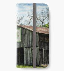 Kentucky Barn Quilt - Mariners Compass iPhone Wallet/Case/Skin