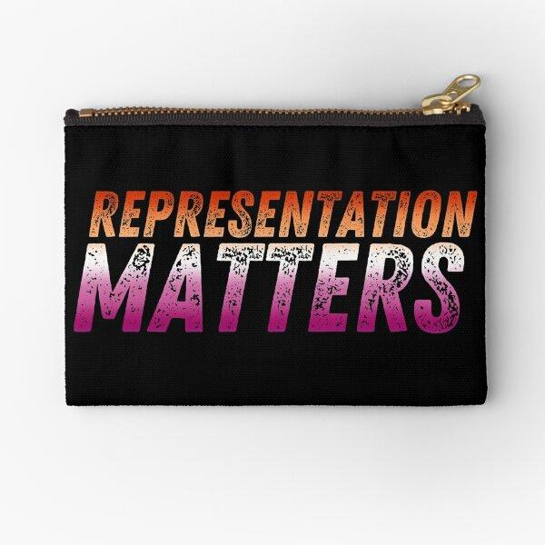Representation Matters - Lesbian Pride Flag Zipper Pouch