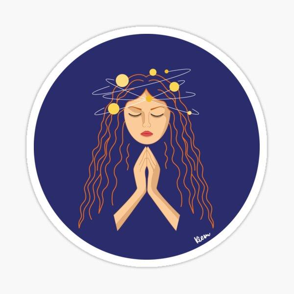 Chica espiritual Pegatina