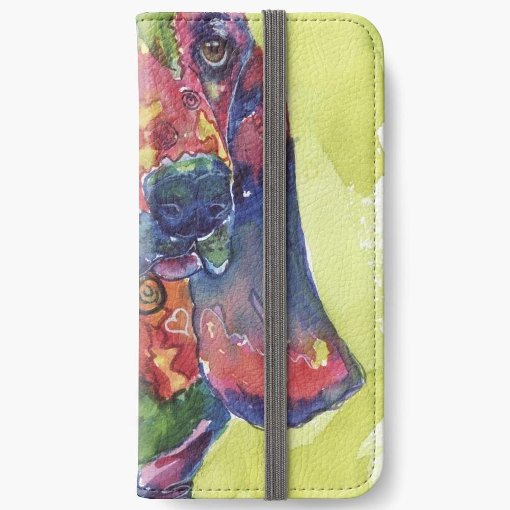 Basset Hound iPhone Wallet