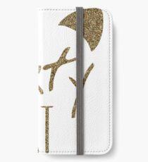 KatyCat Golden Glitter iPhone Wallet/Case/Skin
