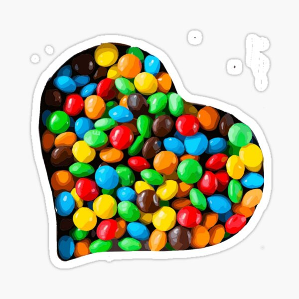 Heart Filled With M&M's Candies Sticker