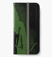 Green shadow iPhone Wallet/Case/Skin