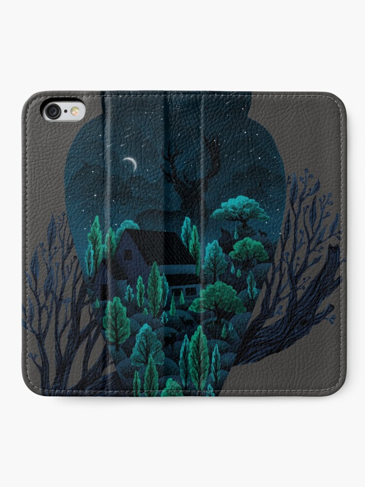 Alternative Ansicht von Eulenlandschaft iPhone Flip-Case