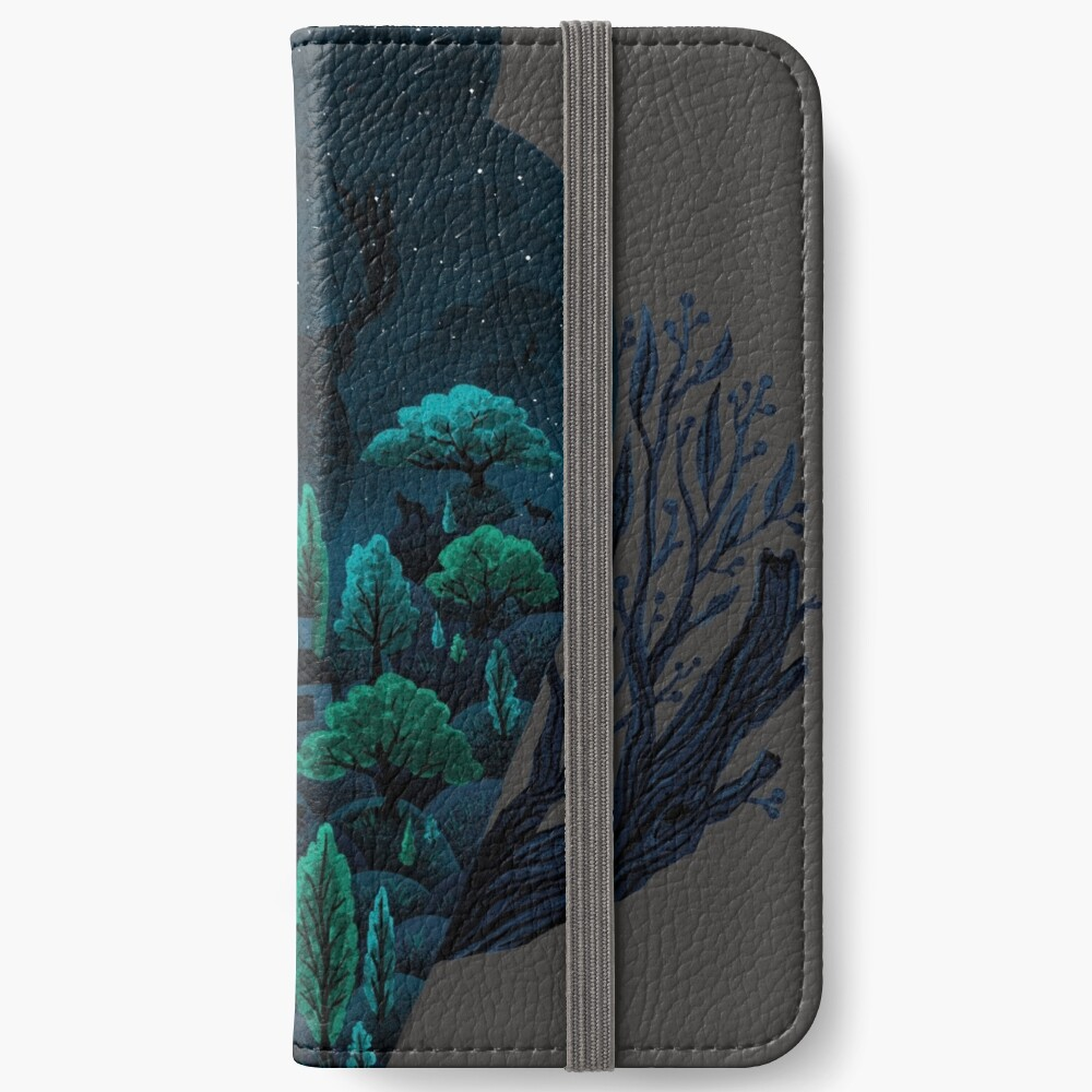 Eulenlandschaft iPhone Flip-Case