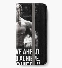 Arnold Schwarzenegger Arnie Conquer Quote iPhone Wallet/Case/Skin
