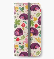 Hedgehog Print iPhone Wallet/Case/Skin