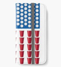 Beer Pong Drinking Game American Flag iPhone Wallet/Case/Skin