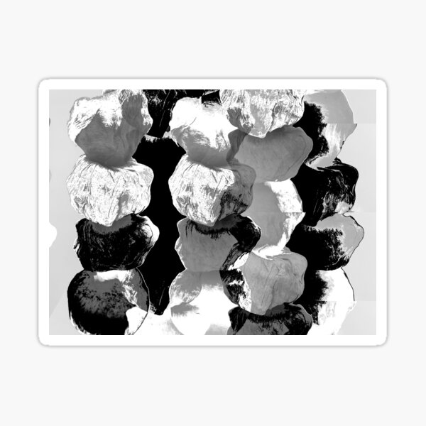 PALOOPA - black and white boulders on a necklace - Sticker