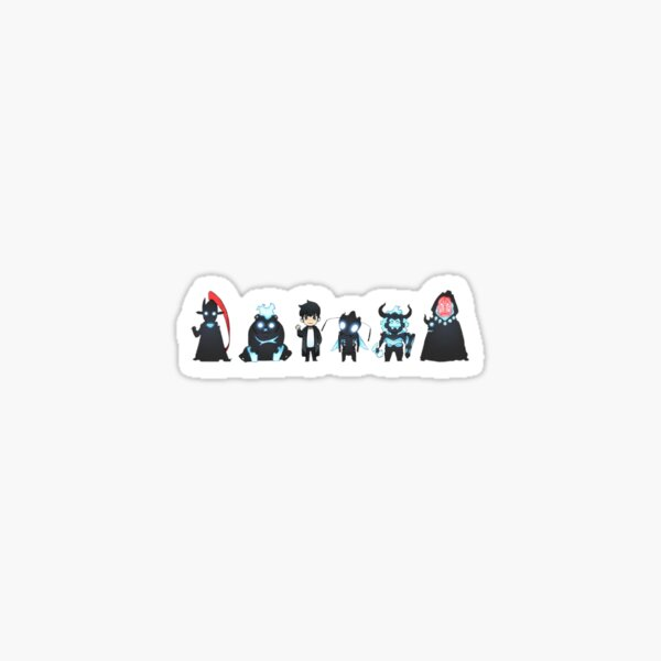 Autocollant Sung Jin Woo Monsters - Nivellement en solo Sticker
